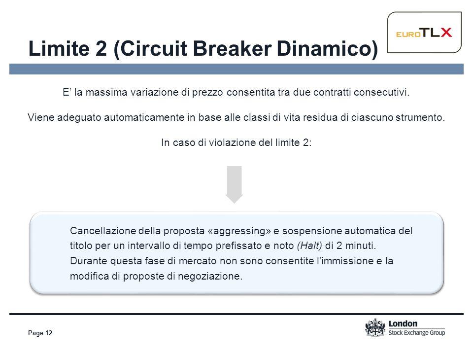Page 12 Cancellazione della proposta «aggressing» e sospensione automatica del titolo per un intervallo di tempo prefissato e noto (Halt) di 2 minuti.