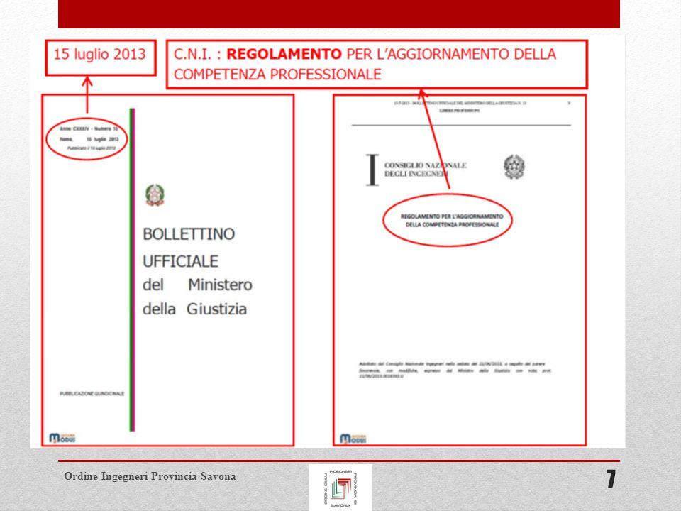 Ordine Ingegneri Provincia Savona SANZIONI (ART.