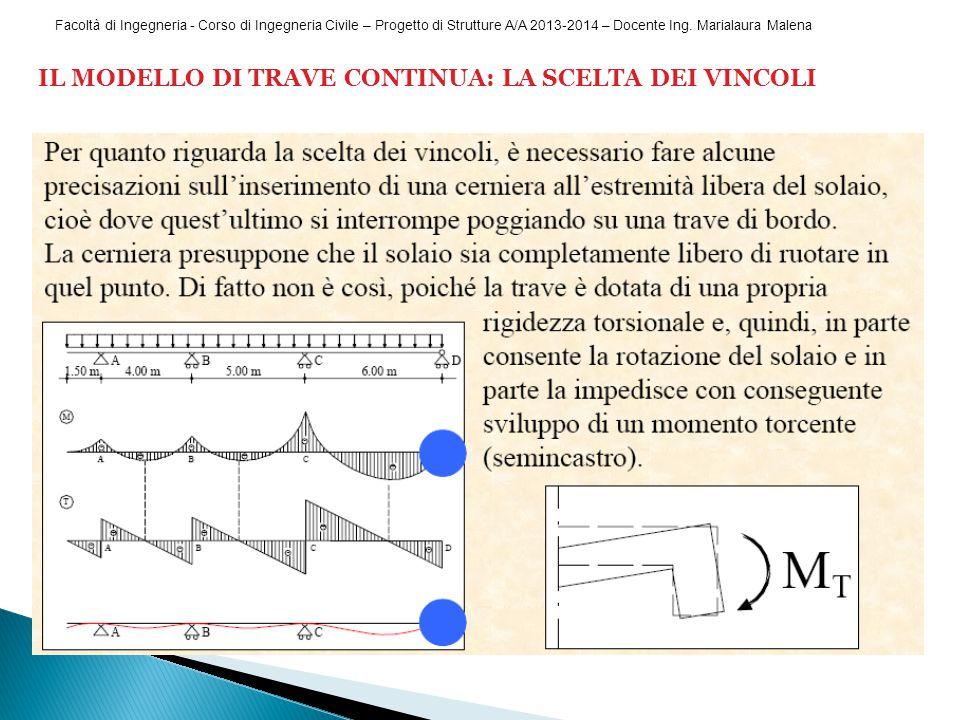 Facoltà di Ingegneria - Corso di Ingegneria Civile – Progetto di Strutture A/A 2013-2014 – Docente Ing.