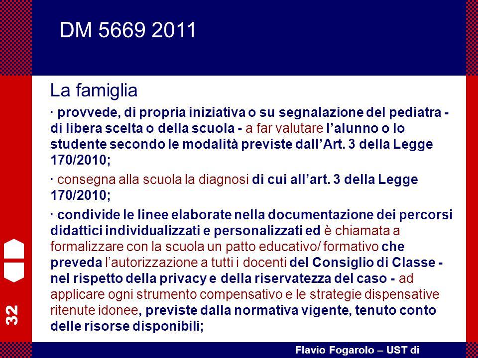 32 Flavio Fogarolo – UST di Vicenza La famiglia · provvede, di propria iniziativa o su segnalazione del pediatra - di libera scelta o della scuola - a