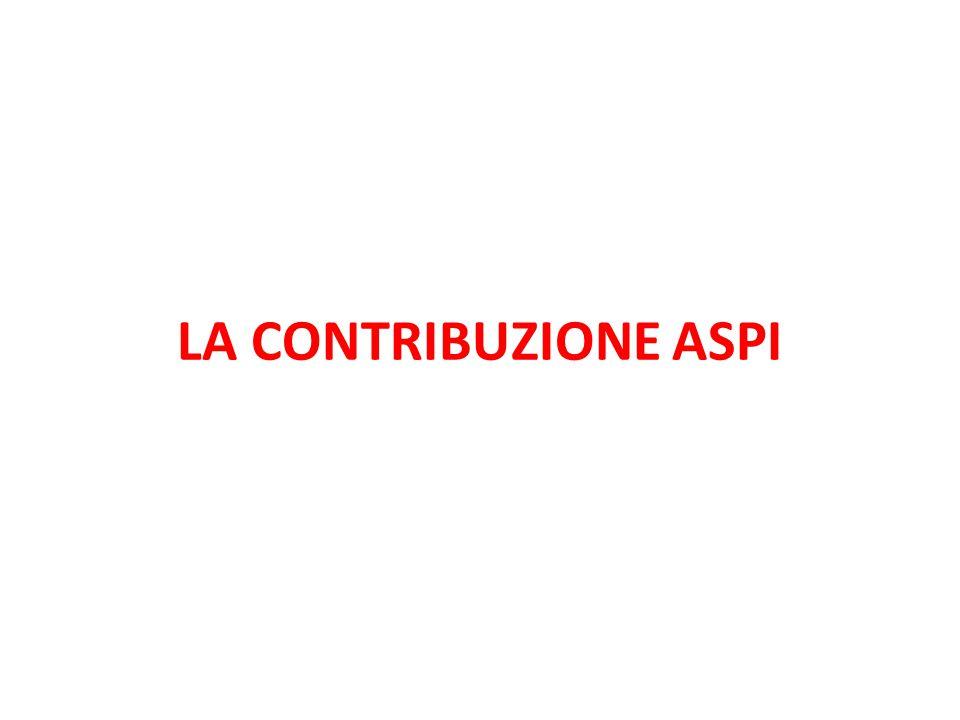 LA CONTRIBUZIONE ASPI