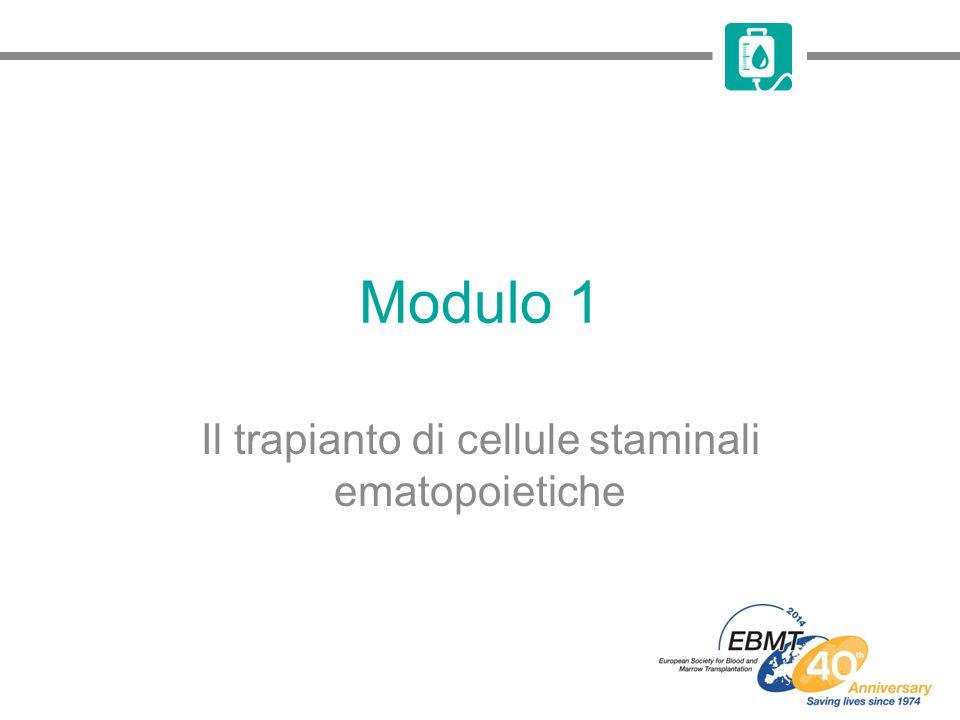 Modulo 1 Il trapianto di cellule staminali ematopoietiche
