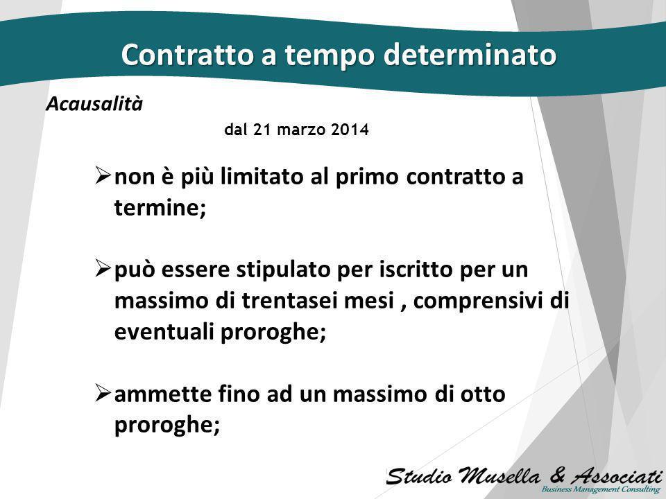 JOBS ACT: Le novità del Decreto Legge n. 34/2014 Relatore: Dr. Mattia D'Acunto