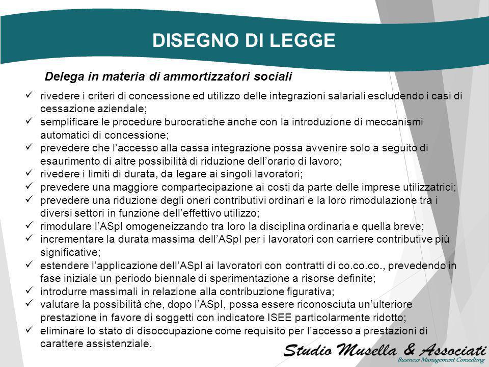 DISEGNO DI LEGGE Il Consiglio dei Ministri, su proposta del Presidente e del Ministro del Lavoro e delle Politiche Sociali, Giuliano Poletti, ha appro