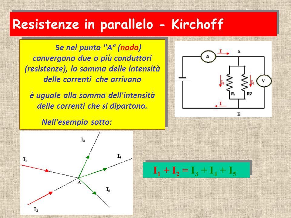 Questa osservazione è molto importante e prende il nome di primo principio di Kirchhoff o regola dei nodi. Questa osservazione è molto importante e pr