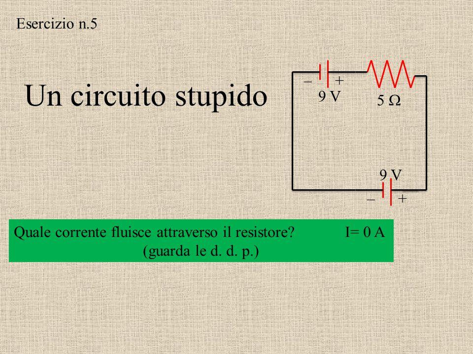 +–+–  9 V 5   1.5 V 3  I1 I1 I3 I3 I2 I2 In un nodo la somma delle correnti è zero In A: I 1 + I 3 = I 2 3I 2 – 1.5 = 0 9 – 5I 1 – 3I 2 = 0 I 2 =