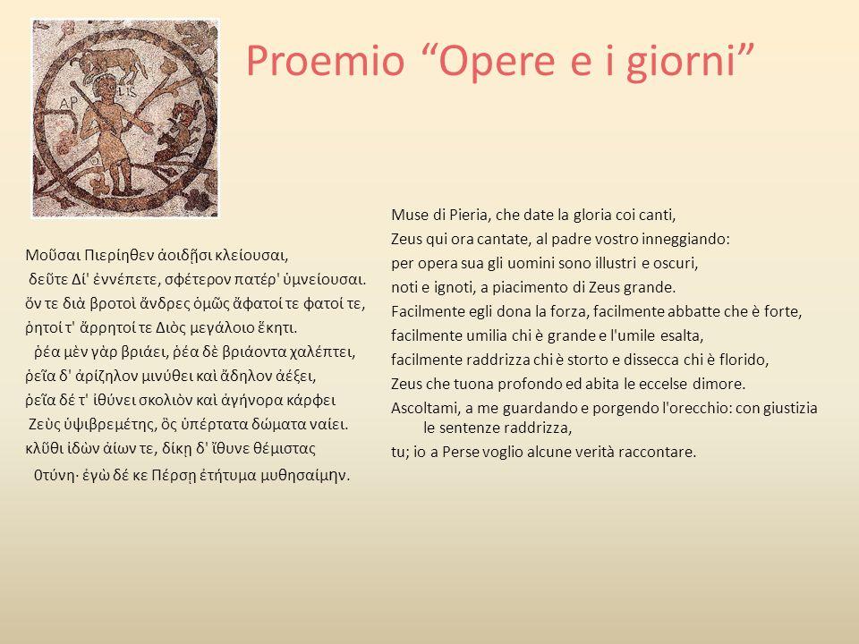 Contenuto Teogonia PROEMIO (vv.