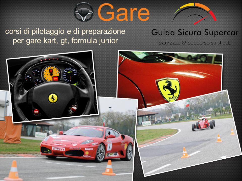 corsi di pilotaggio e di preparazione per gare kart, gt, formula junior Gare