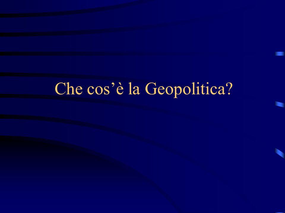 La geopolitica è basata su l'antagonismo Ma l'antagonismo deve essere oramai accettato come normale
