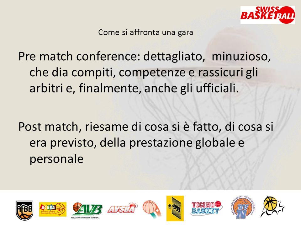 Come si affronta una gara Pre match conference: dettagliato, minuzioso, che dia compiti, competenze e rassicuri gli arbitri e, finalmente, anche gli ufficiali.