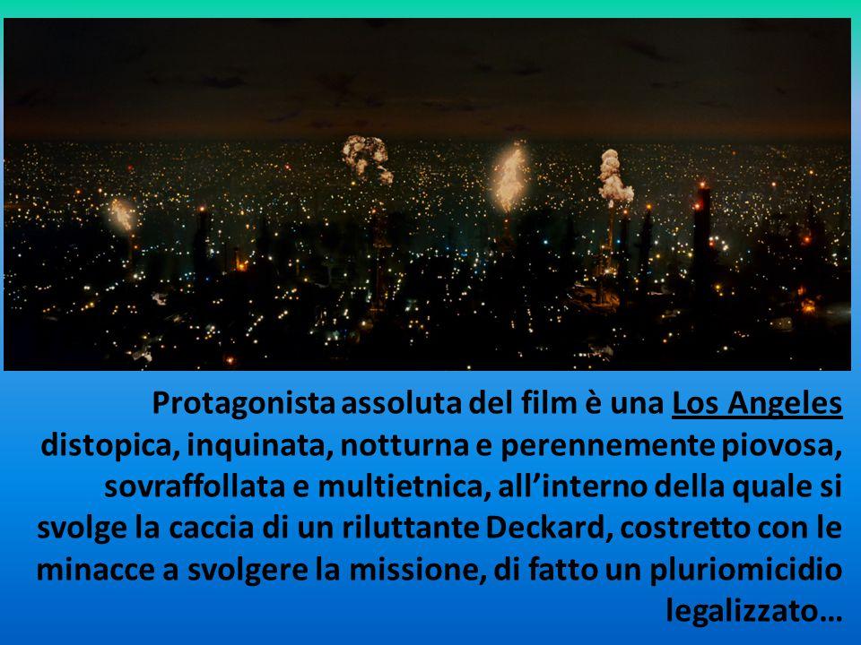 Protagonista assoluta del film è una Los Angeles distopica, inquinata, notturna e perennemente piovosa, sovraffollata e multietnica, all'interno della