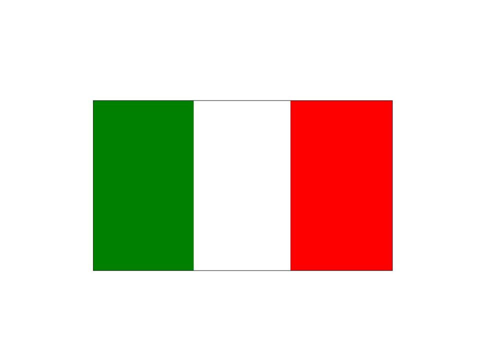Art. 12.- La bandiera della Repubblica è il tricolore italiano: verde, bianco e rosso, a tre bande verticali di eguali dimensioni.