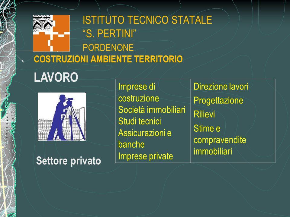 """ISTITUTO TECNICO STATALE """"S. PERTINI"""" PORDENONE Imprese di costruzione Società immobiliari Studi tecnici Assicurazioni e banche Imprese private Direzi"""