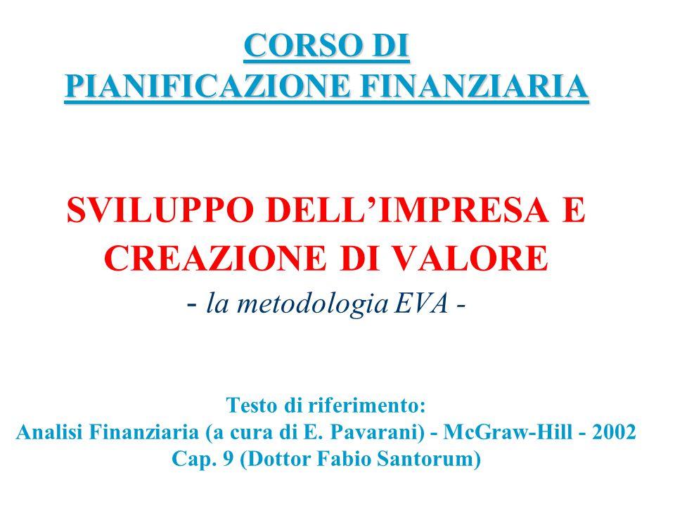 Creazione del valore divisione tra i soci distribuzione agli altri soggetti Qual è il fine dell'impresa nella logica della finanza aziendale.