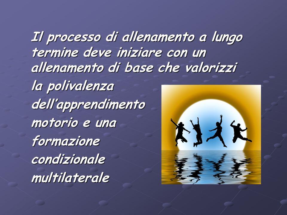 Il processo di allenamento a lungo termine deve iniziare con un allenamento di base che valorizzi Il processo di allenamento a lungo termine deve iniz