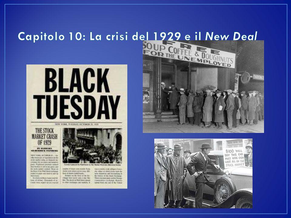 Il nuovo presidente eletto nel 1932, Franklin Delano Roosevelt, cerca di risolvere la crisi con la politica del New Deal (Il nuovo corso).