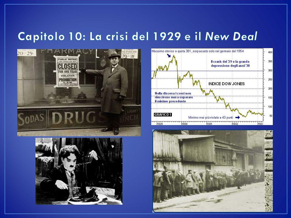 L'economia degli USA nel periodo 1919-1929 ebbe una formidabile crescita I «ruggenti anni venti»