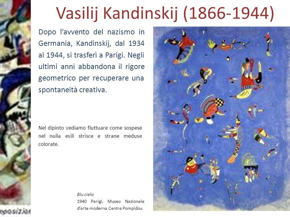Prof.ssa Zaira CHIAESE Vasilij Kandinskij (1866-1944) Blu cielo 1940 Parigi, Museo Nazionale d'arte moderna Centre Pompidou Nel dipinto vediamo fluttu