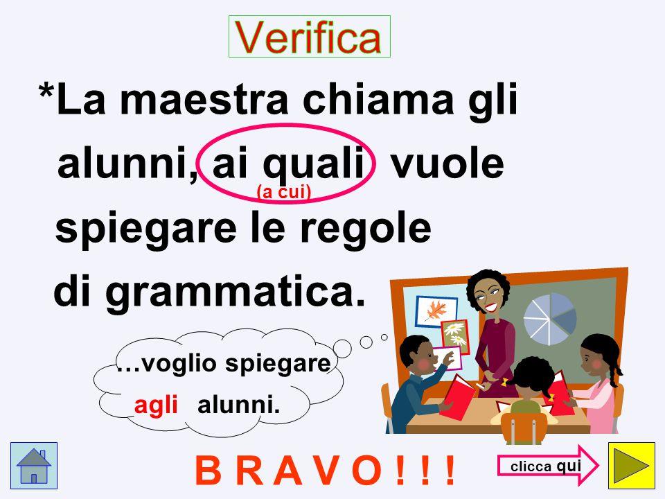 *Il maestro chiama gli alunni, dei quali vuole spiegare le regole di grammatica. NO ! ! ! con- trol- la