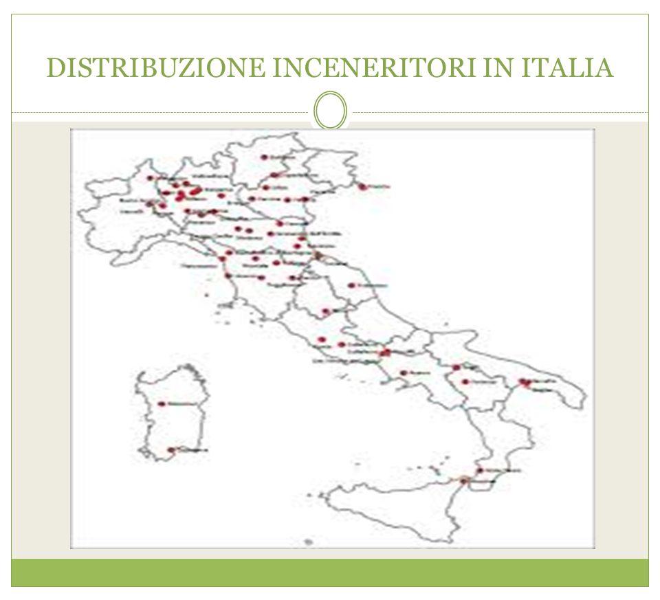 DISTRIBUZIONE INCENERITORI IN ITALIA