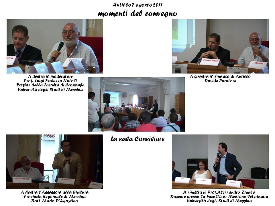 Antillo 7 agosto 2011 momenti del convegno A destra il moderatore Prof.