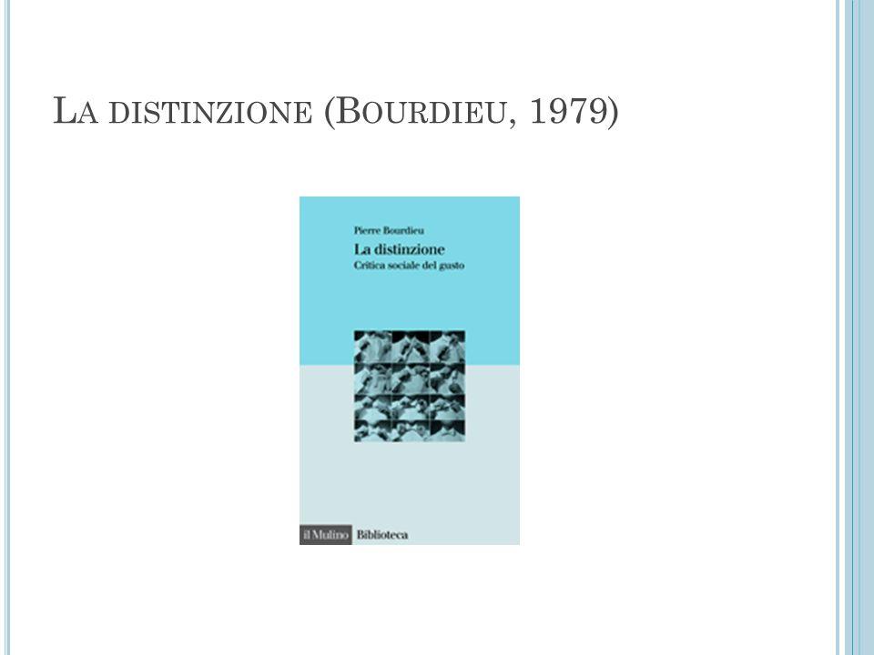 L A DISTINZIONE (B OURDIEU, 1979)