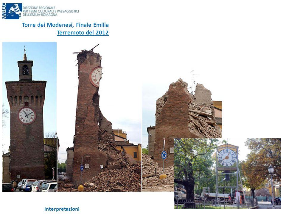 Interpretazioni Torre dei Modenesi, Finale Emilia Terremoto del 2012