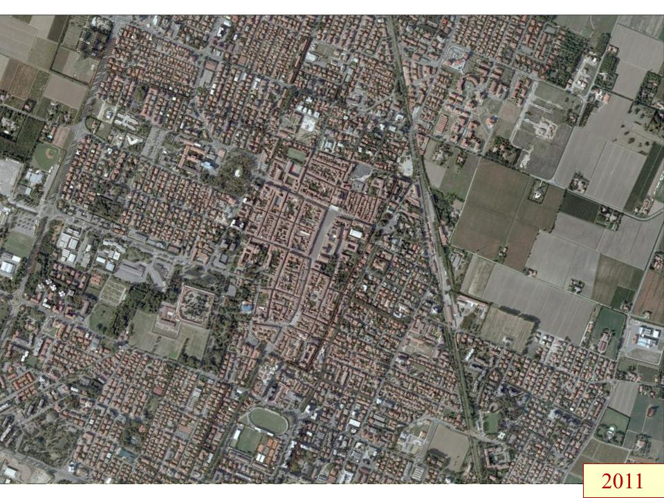 Paesaggio e insediamenti sottoposti a fortissime trasformazioni negli ultimi due secoli… 1828 193319441955 1976 2011