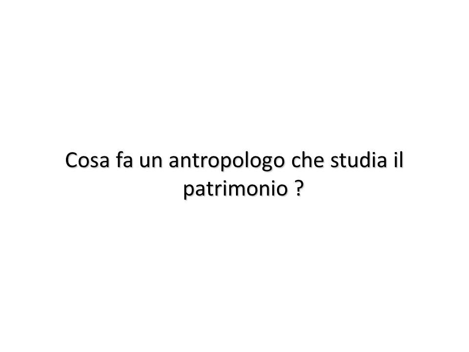 L'antropologo è solo lo specialista di una specifica categoria di beni recentemente riconosciuti dalla legislazione italiana (Beni DEA).