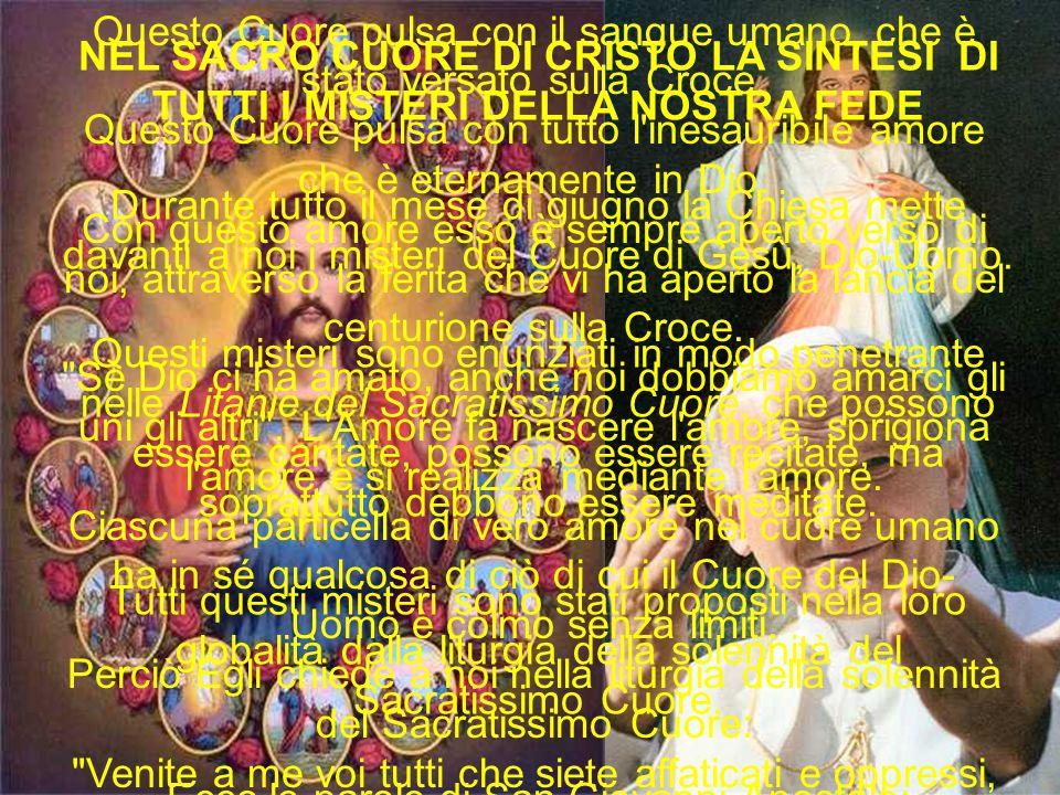 PREGHIAMO: O Dio onnipotente ed eterno, volgi lo sguardo al Cuore del tuo amatissimo Figlio e alle lodi e soddisfazioni che egli dà a te per i peccatori, e a questi che domandano la tua misericordia Tu, placato, perdona nel nome del medesimo tuo Figlio Gesù Cristo.