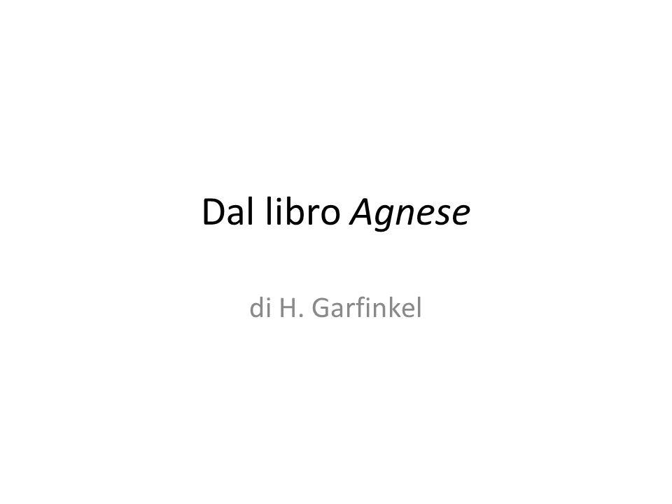 Dal libro Agnese di H. Garfinkel