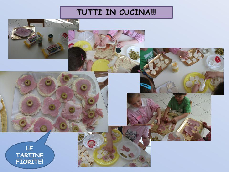 TUTTI IN CUCINA!!! LE TARTINE FIORITE!