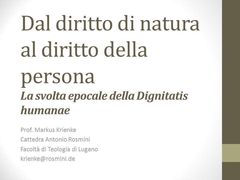 1. SOLO LA VERITÀ HA DIRITTO krienke@rosmini.de www.cattedrarosmini.org 2