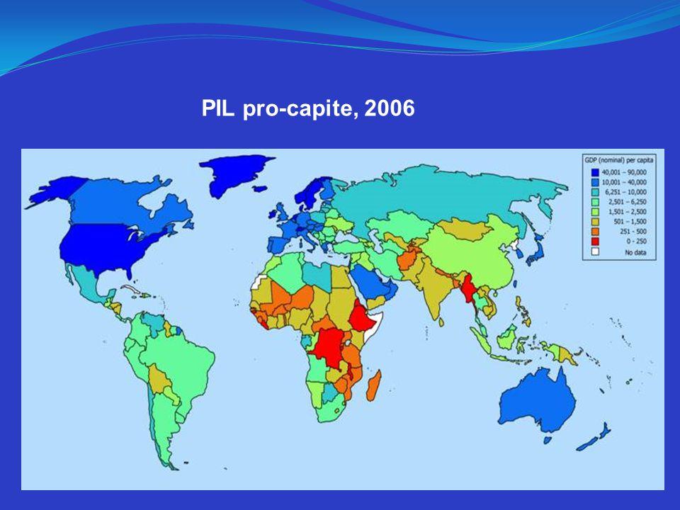 PIL pro-capite, 2006