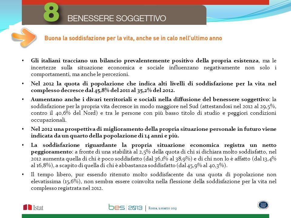 Gli italiani tracciano un bilancio prevalentemente positivo della propria esistenza, ma le incertezze sulla situazione economica e sociale influenzano negativamente non solo i comportamenti, ma anche le percezioni.