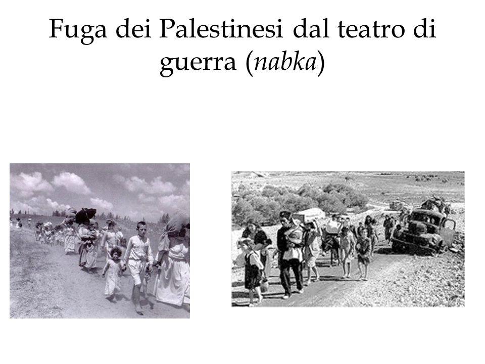 Fuga dei Palestinesi dal teatro di guerra ( nabka )