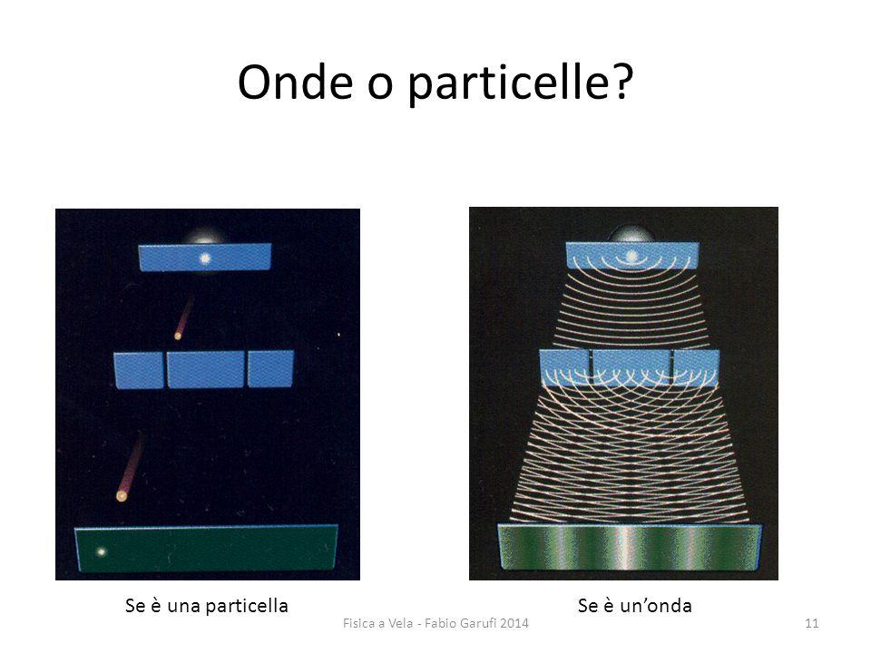 Onde o particelle? Se è una particellaSe è un'onda 11Fisica a Vela - Fabio Garufi 2014