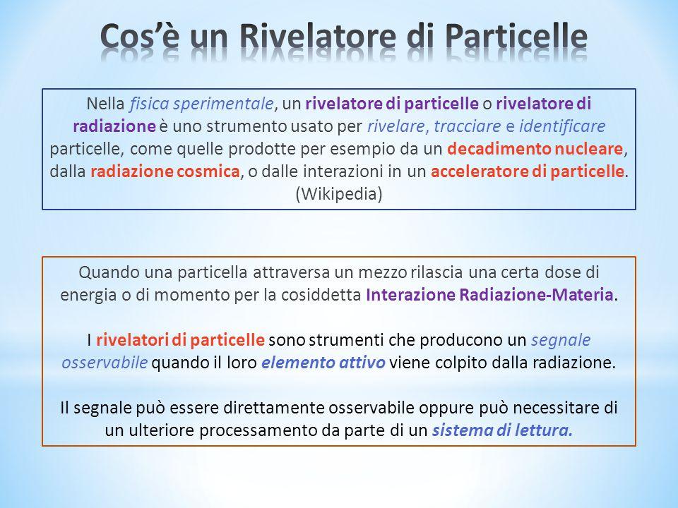 Nella fisica sperimentale, un rivelatore di particelle o rivelatore di radiazione è uno strumento usato per rivelare, tracciare e identificare particelle, come quelle prodotte per esempio da un decadimento nucleare, dalla radiazione cosmica, o dalle interazioni in un acceleratore di particelle.