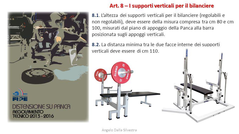 Art. 8 – I supporti verticali per il bilanciere Angelo Dalla Silvestra 8.1. L'altezza dei supporti verticali per il bilanciere (regolabili e non regol