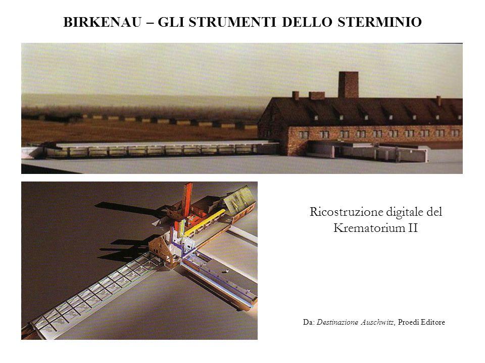 BIRKENAU – GLI STRUMENTI DELLO STERMINIO Ricostruzione digitale del Krematorium II Da: Destinazione Auschwitz, Proedi Editore