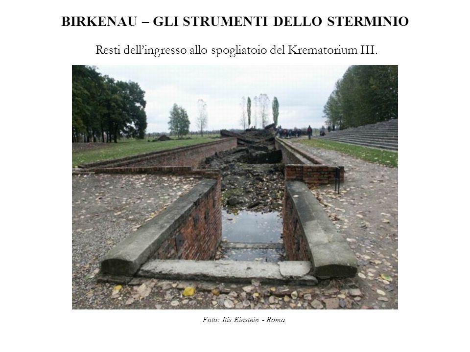 BIRKENAU – GLI STRUMENTI DELLO STERMINIO Resti dell'ingresso allo spogliatoio del Krematorium III. Foto: Itis Einstein - Roma