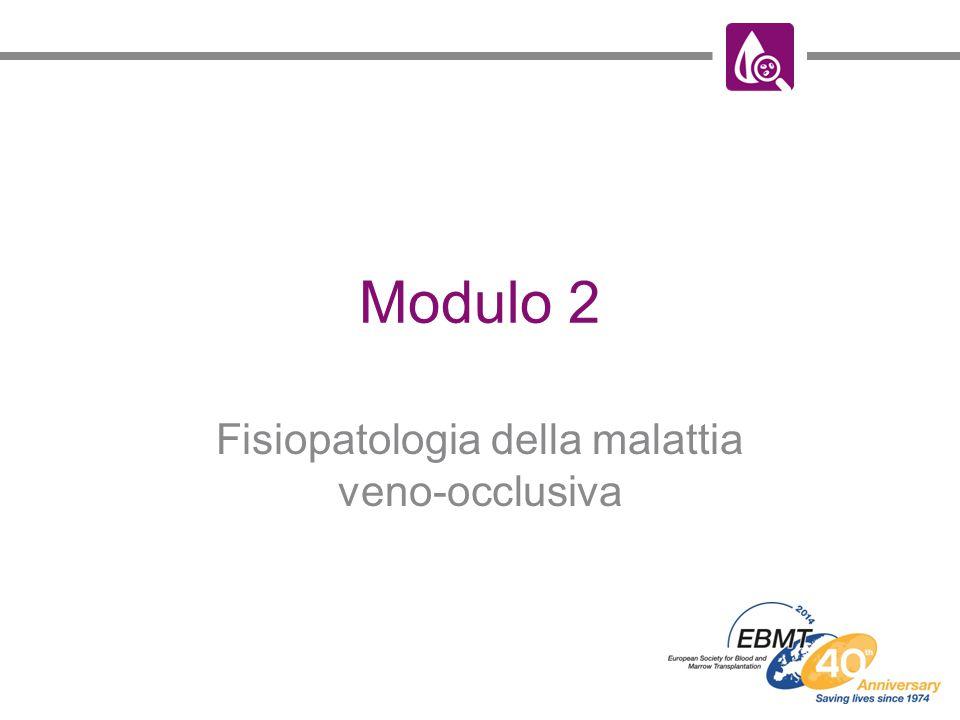 Modulo 2 Fisiopatologia della malattia veno-occlusiva