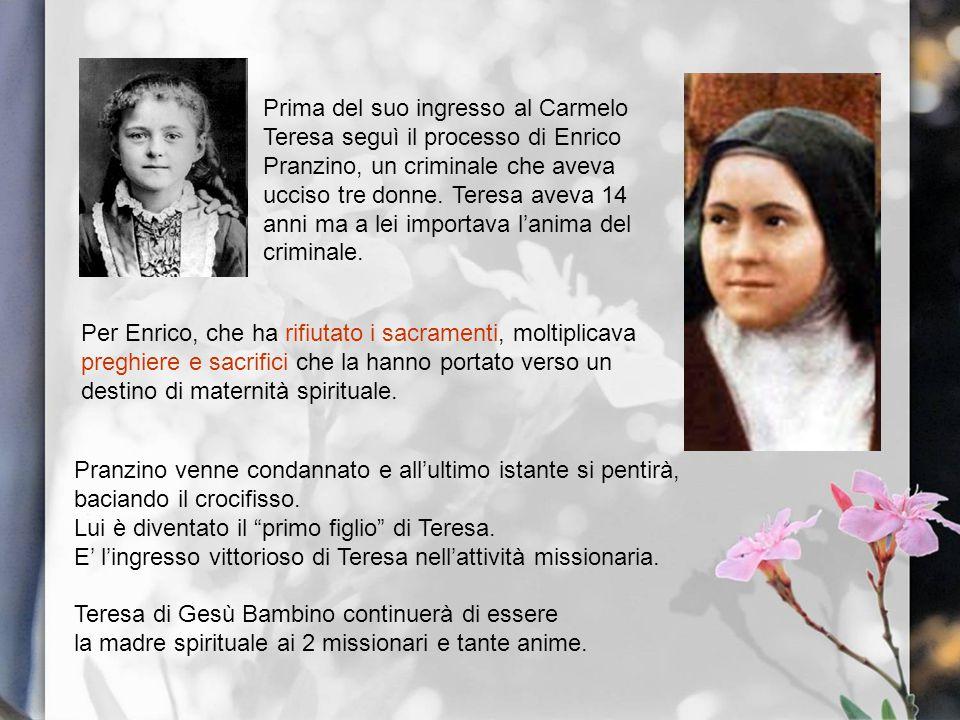 Per Enrico, che ha rifiutato i sacramenti, moltiplicava preghiere e sacrifici che la hanno portato verso un destino di maternità spirituale. Pranzino