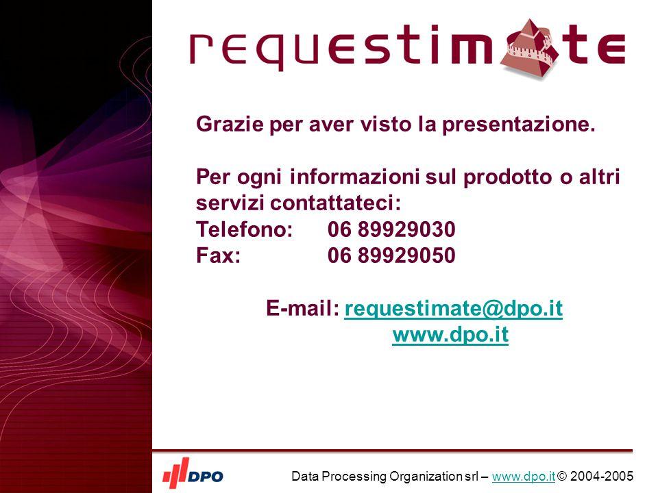 Data Processing Organization srl – www.dpo.it © 2004-2005www.dpo.it Grazie per aver visto la presentazione.