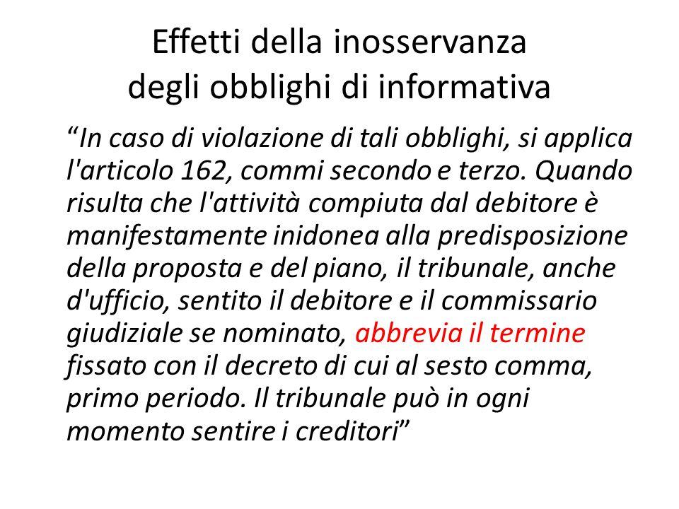 """Effetti della inosservanza degli obblighi di informativa """"In caso di violazione di tali obblighi, si applica l'articolo 162, commi secondo e terzo. Qu"""