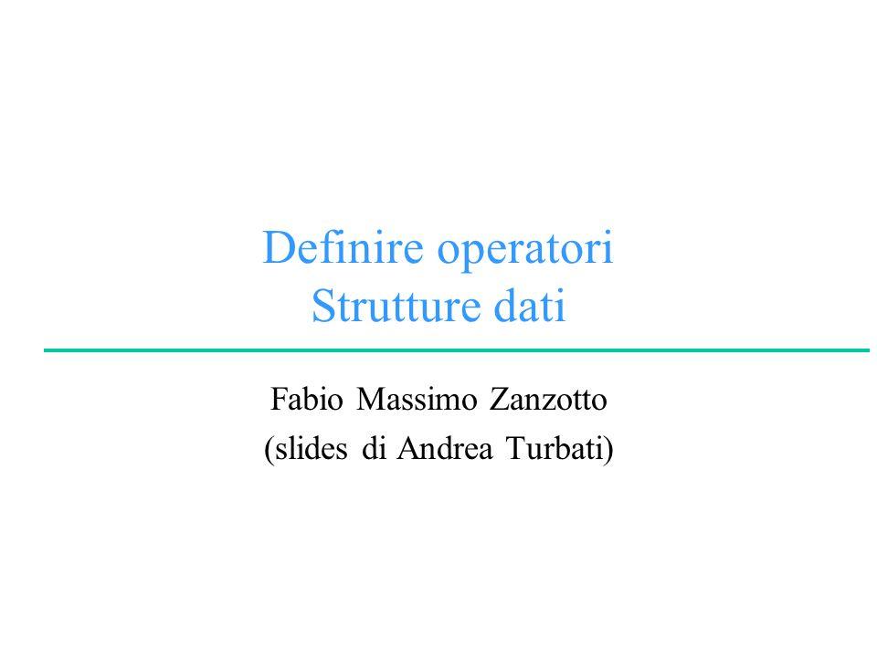 © A.Turbati, F.M.ZanzottoLogica per la Programmazione e la Dimostrazione Automatica University of Rome Tor Vergata Definire un operatore Codificare la priorità: l'albero delle interpretazioni ha priorità decrescenti + ha priorità 500 * ha priorità 400 (e quindi + ha priorità più alta di *) b c * + a ab c * + a + b*c