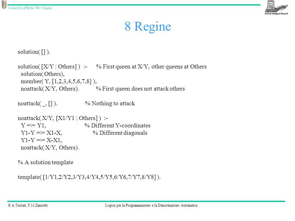 © A.Turbati, F.M.ZanzottoLogica per la Programmazione e la Dimostrazione Automatica University of Rome Tor Vergata solution( [] ).