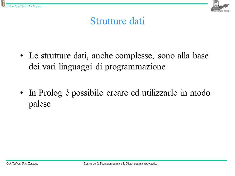 © A.Turbati, F.M.ZanzottoLogica per la Programmazione e la Dimostrazione Automatica University of Rome Tor Vergata :- op(Priorità, Tipo, Operatore).