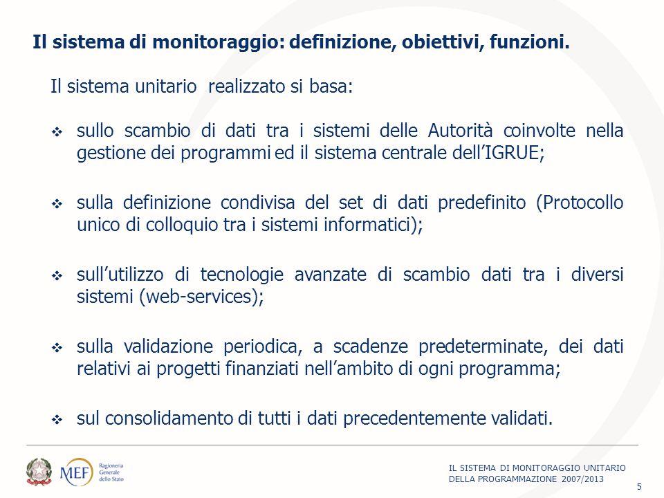 Il sistema unitario realizzato si basa:  sullo scambio di dati tra i sistemi delle Autorità coinvolte nella gestione dei programmi ed il sistema cent