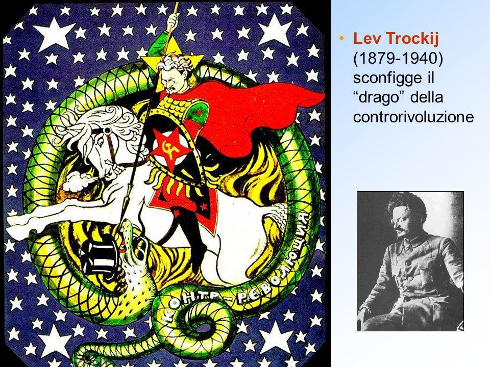 """Lev Trockij (1879-1940) sconfigge il """"drago"""" della controrivoluzione"""